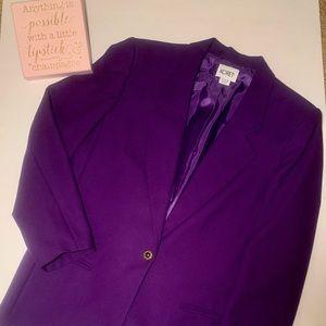Nwt Vintage Purple Koret Women's Blazer SZ 16